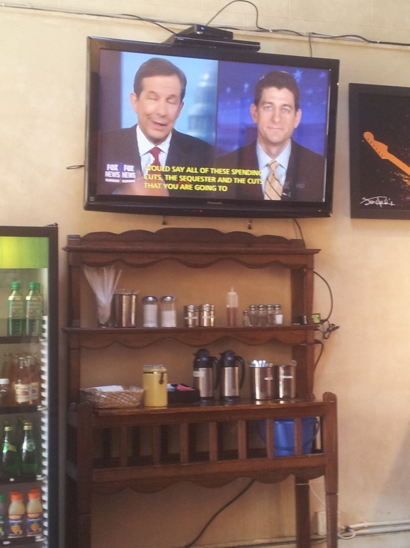 Fox News at a Cafe in San Francisco