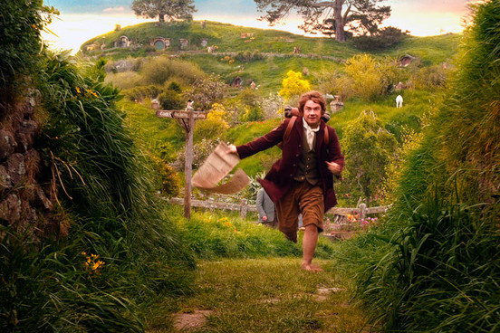 Bilbo Baggins in the shire