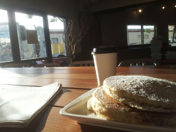 Ghee-colored pancakes