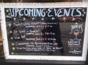Which is shocking considering the world-famous board game night at the wine shoppe just around the corner.